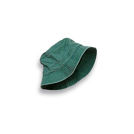 ACVA101 Adams ACVA101 Vacationer Pigment Dyed Bucket Hat FOREST GREEN