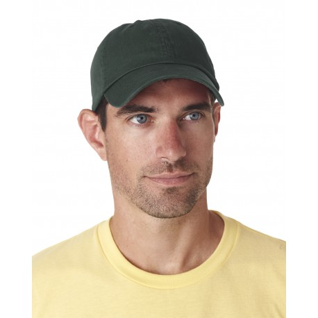 8102 UltraClub 8102 Adult Classic Cut Chino Cotton Twill Unstructured Cap FOREST GREEN