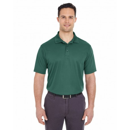 8210 UltraClub 8210 Men's Cool & Dry Mesh Pique Polo FOREST GREEN