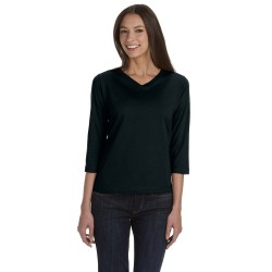 LAT 3577 Ladies' 3/4-Sleeve Premium Jersey T-Shirt