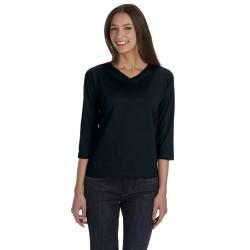 LAT 3577 Ladies' 3/4-Sleeve Premium Jersey T-Shirt