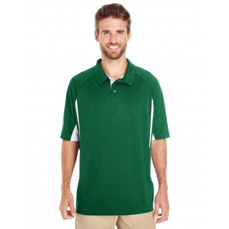 222530 Holloway 222530 Men's Avenger Short-Sleeve Polo FOREST/WHITE