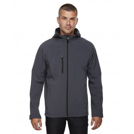 88166 North End 88166 Men's Prospect Two-Layer Fleece Bonded Soft Shell Hooded Jacket FOSSIL GREY 887