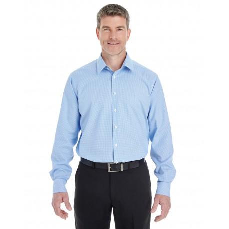 DG532 Devon & Jones DG532 Men's Crown Woven Collection Royal Dobby Shirt FRENCH BLUE