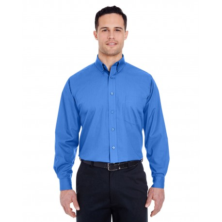 8355 UltraClub 8355 Men's Easy-Care Broadcloth FRENCH BLUE