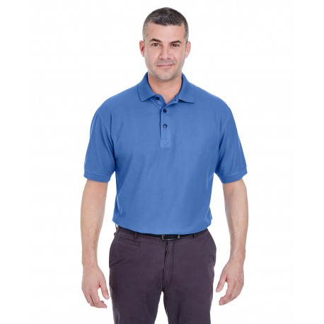 8540 UltraClub 8540 Men's Whisper Pique Polo FRENCH BLUE
