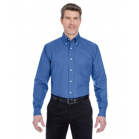 8970T UltraClub 8970T Men's Tall Classic Wrinkle-Resistant Long-Sleeve Oxford FRENCH BLUE