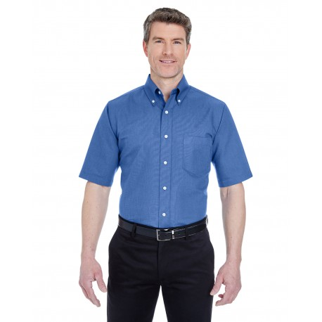 8972T UltraClub 8972T Men's Tall Classic Wrinkle-Resistant Short-Sleeve Oxford FRENCH BLUE