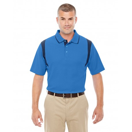 DG180 Devon & Jones DG180 Men's DRYTEC20 Performance Colorblock Polo FRENCH BLUE/NVY