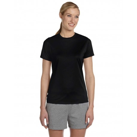 4830 Hanes 4830 Ladies' Cool DRI with FreshIQ Performance T-Shirt BLACK