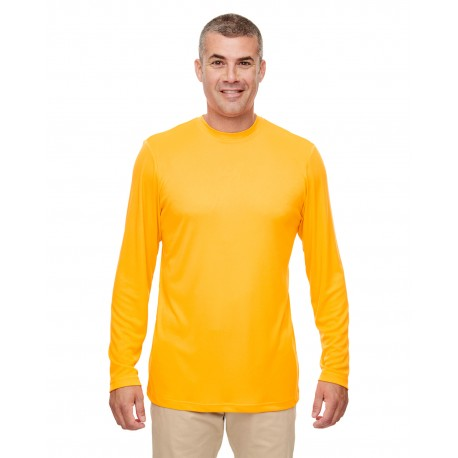 8622 UltraClub 8622 Men's Cool & Dry Performance Long-Sleeve Top GOLD