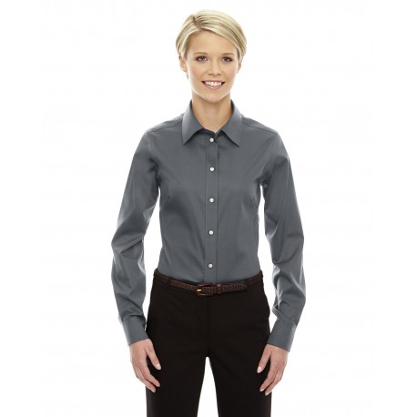 DG530W Devon & Jones DG530W Ladies' Crown Woven Collection Solid Stretch Twill GRAPHITE