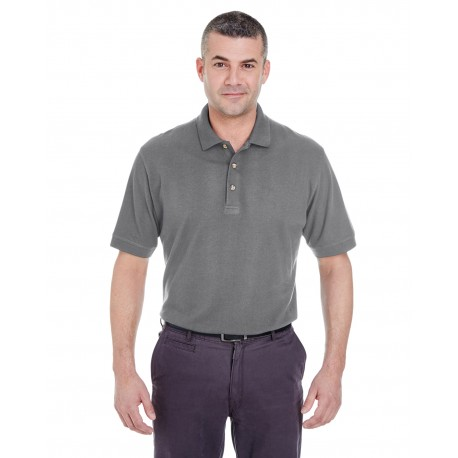 8535 UltraClub 8535 Men's Classic Pique Polo GRAPHITE