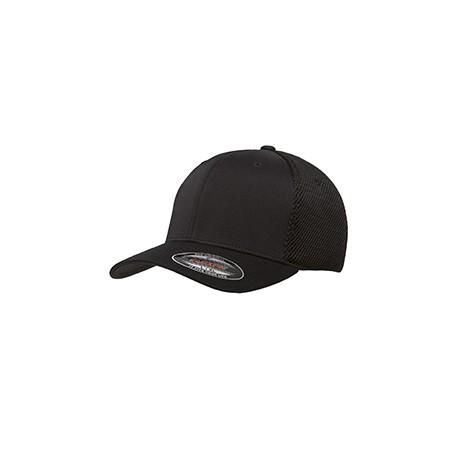 6533 Flexfit 6533 Adult Ultrafibre and Airmesh Cap BLACK