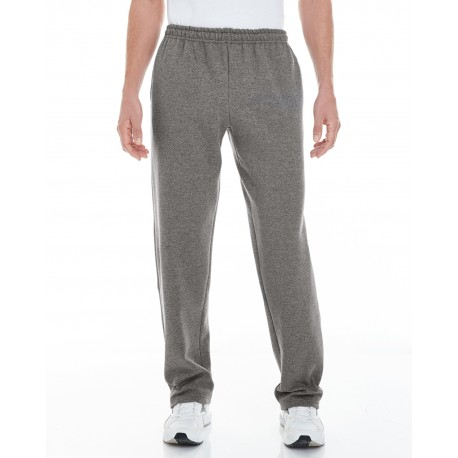 G183 Gildan G183 Adult Heavy Blend Adult 8 oz. Open-Bottom Sweatpants with Pockets GRAPHITE HEATHER