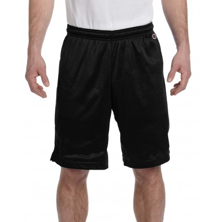 8731 Champion 8731 Adult 3.7 oz. Mesh Short BLACK