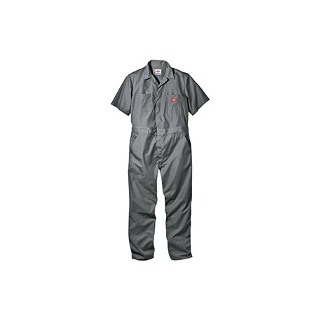 33999 Dickies 33999 Men's 5 oz. Short-Sleeve Coverall GRAY M