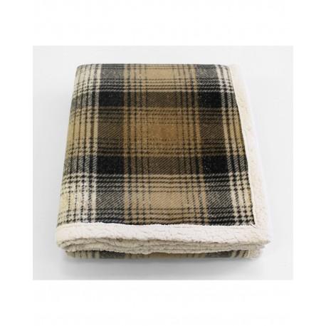 CTP5060 Pro Towels CTP5060 Cottage Plaid Throw Kanata Blanket GRAY PLAID