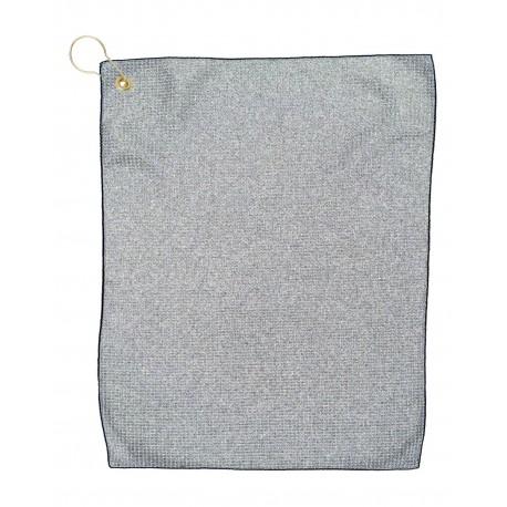 MW18CG Pro Towels MW18CG Microfiber Waffle Small GRAY/BLACK