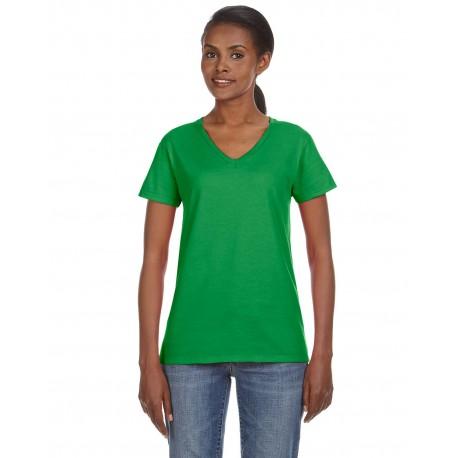88VL Anvil 88VL Ladies' Lightweight V-Neck T-Shirt GREEN APPLE