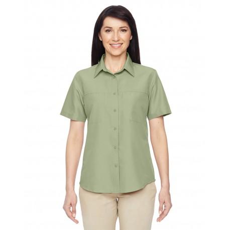 M580W Harriton M580W Ladies' Key West Short-Sleeve Performance Staff Shirt GREEN MIST