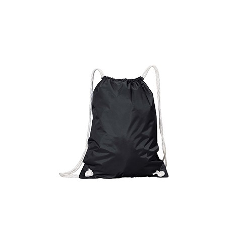 8887 Liberty Bags 8887 White Drawstring Backpack BLACK