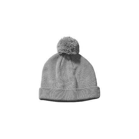 BX028 Big Accessories BX028 Knit Pom Beanie GREY