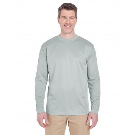8401 UltraClub 8401 Adult Cool & Dry Sport Long-Sleeve T-Shirt GREY
