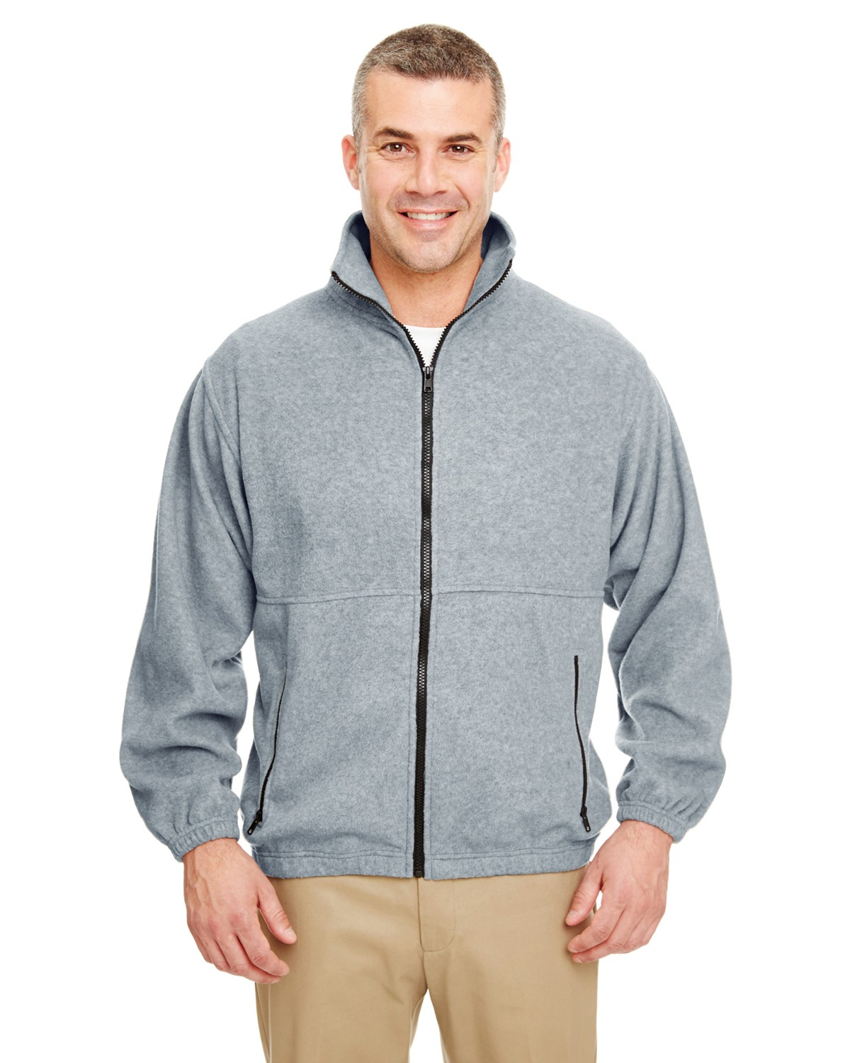 8485 UltraClub GREY HEATHER