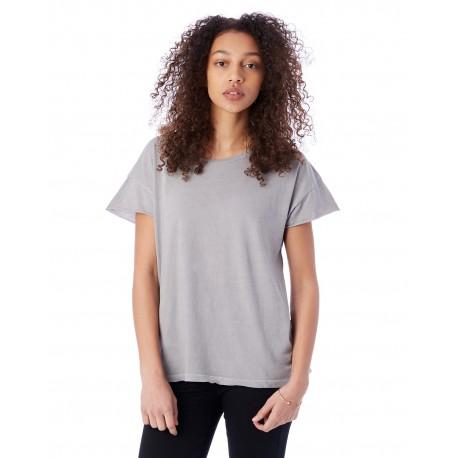 04134C1 Alternative 04134C1 Ladies' Rocker Garment-Dyed T-Shirt GREY PIGMENT