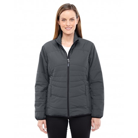 78231 North End 78231 Ladies' Resolve Interactive Insulated Packable Jacket GRPHITE/BLK 156
