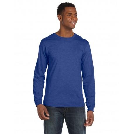 949 Anvil 949 Adult Lightweight Long-Sleeve T-Shirt HEATHER BLUE