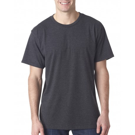 5010 Bayside 5010 Adult Adult Heather Ring-Spun Jersey Tee HEATHER CHARCOAL