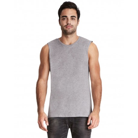 6333 Next Level 6333 Men's Muscle Tank HEATHER GRAY