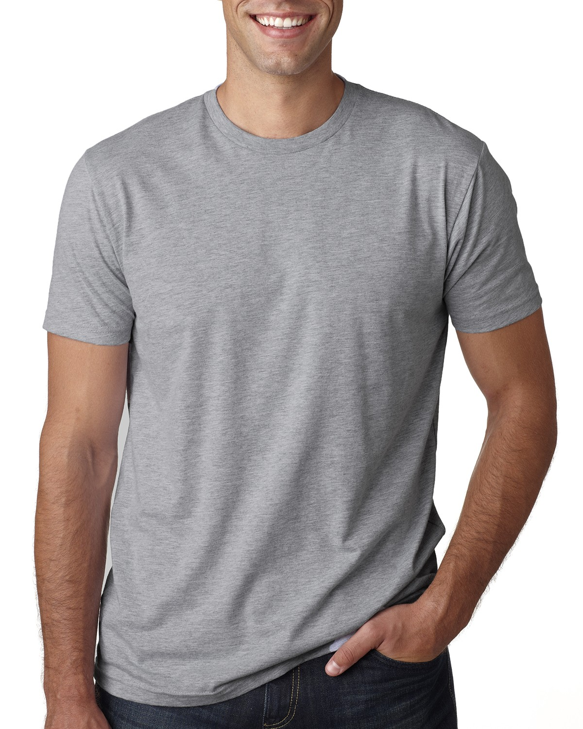 3600A Next Level HEATHER GRAY