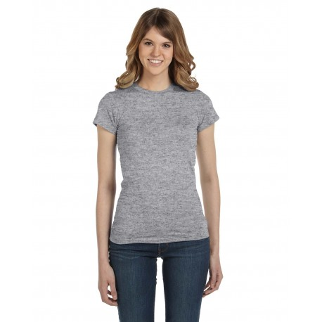 379 Anvil 379 Ladies' Lightweight Fitted T-Shirt HEATHER GREY