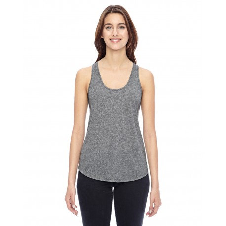 04031C1 Alternative 04031C1 Ladies' Shirttail Satin Jersey Tank HEATHER GREY