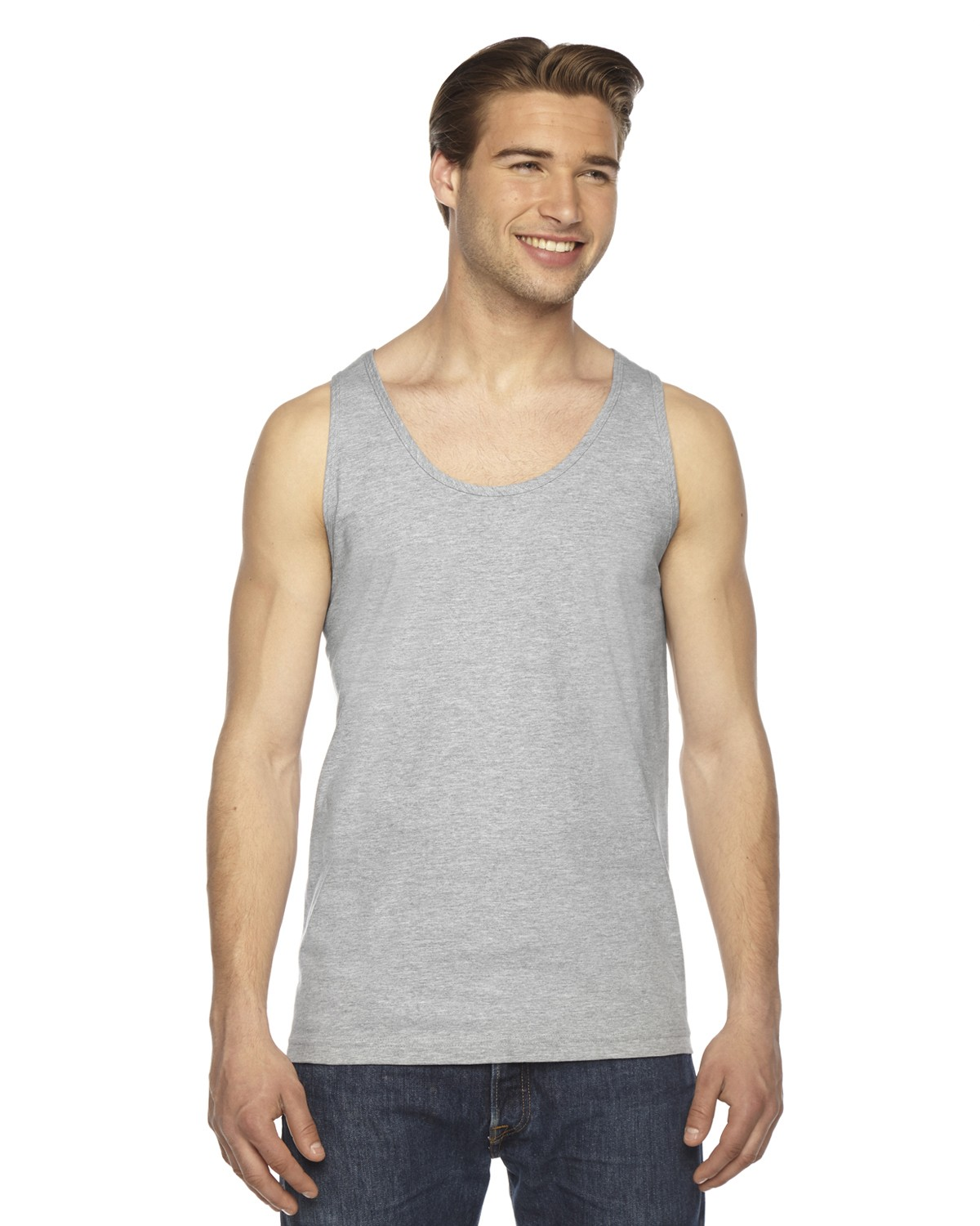 2408W American Apparel HEATHER GREY