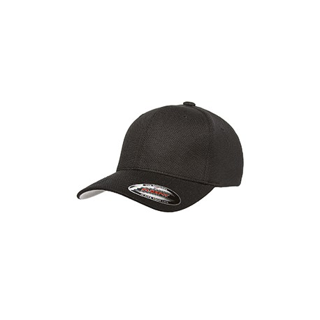 6577CD Flexfit 6577CD Adult Cool & Dry Pique Mesh Cap BLACK