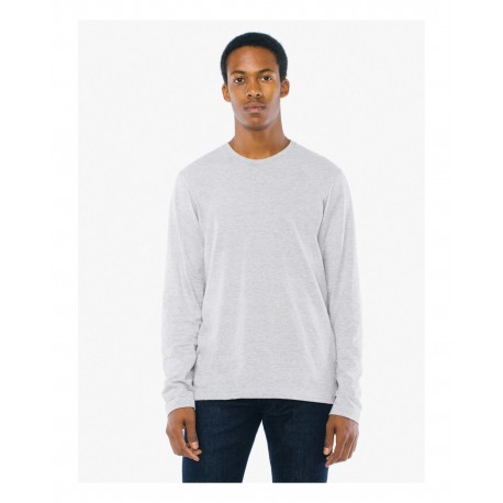 SA2426W American Apparel SA2426W Unisex Power Washed Long-Sleeve T-Shirt HEATHER GREY