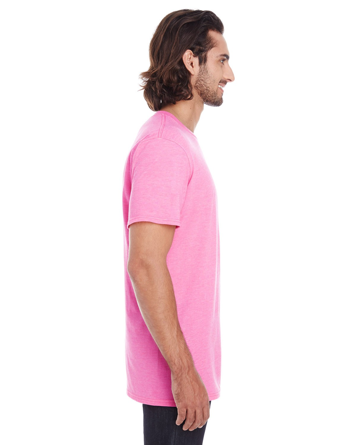 980 Anvil HEATHER HOT PINK
