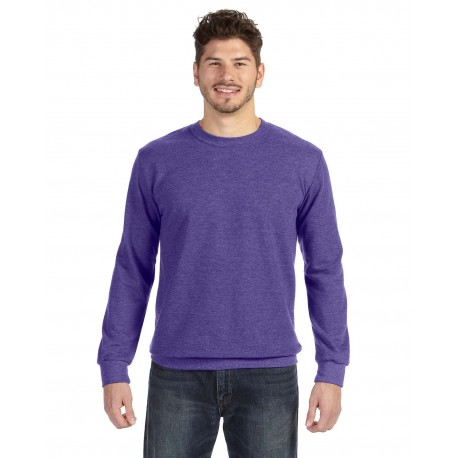 72000 Anvil 72000 Adult Crewneck French Terry HEATHER PURPLE