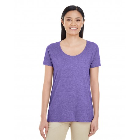 G6455L Gildan G6455L Ladies' Softstyle 4.5 oz. Deep Scoop T-Shirt HEATHER PURPLE