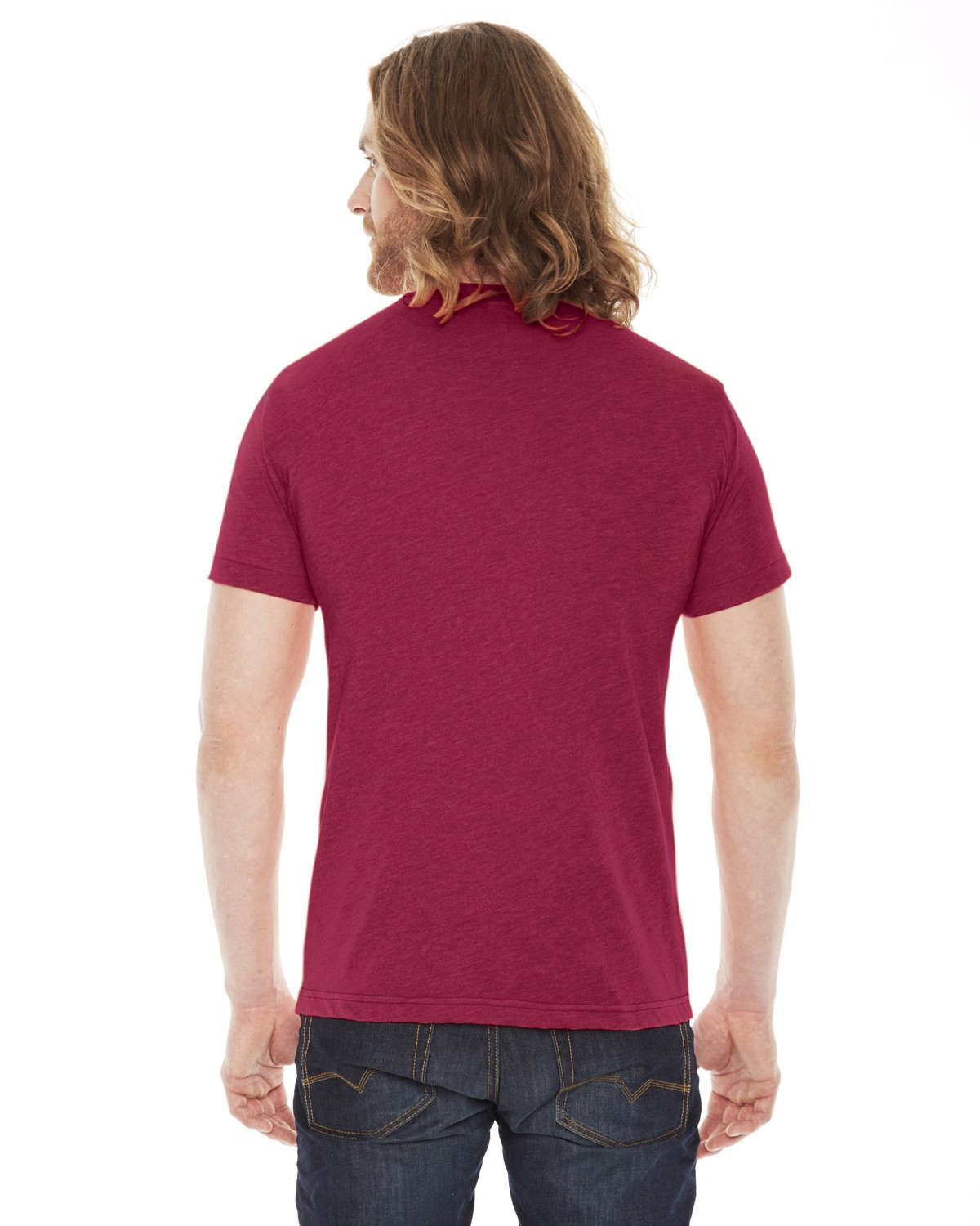 BB401 American Apparel HEATHER RED