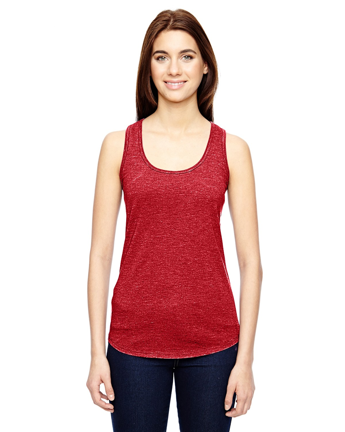 6751L Anvil HEATHER RED