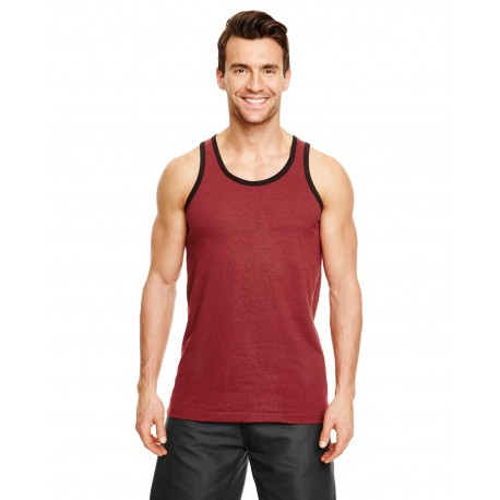 B9111 Burnside B9111 Adult Heathered Tank Top HEATHER RED