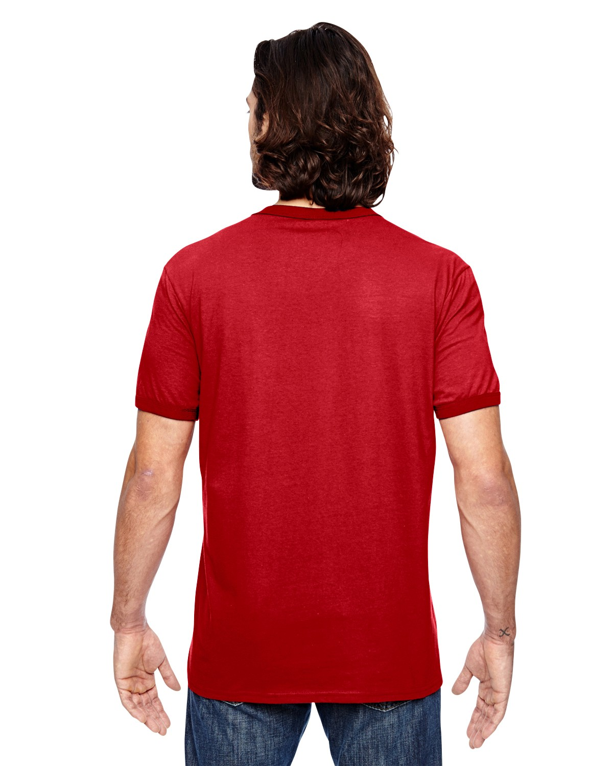 988AN Anvil HEATHER RED/RED