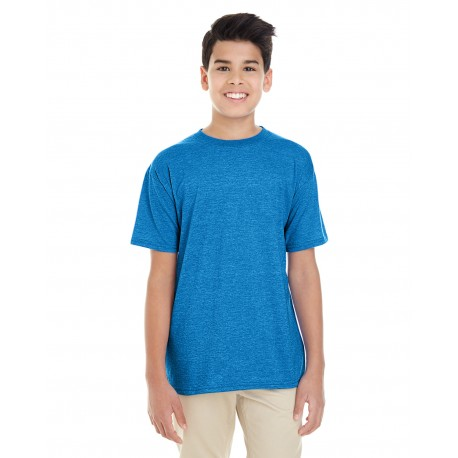 G645B Gildan G645B Youth Softstyle 4.5 oz. T-Shirt HEATHER SAPPHIRE