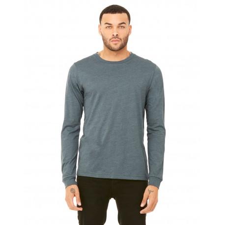 3501 Bella + Canvas 3501 Unisex Jersey Long-Sleeve T-Shirt HEATHER SLATE