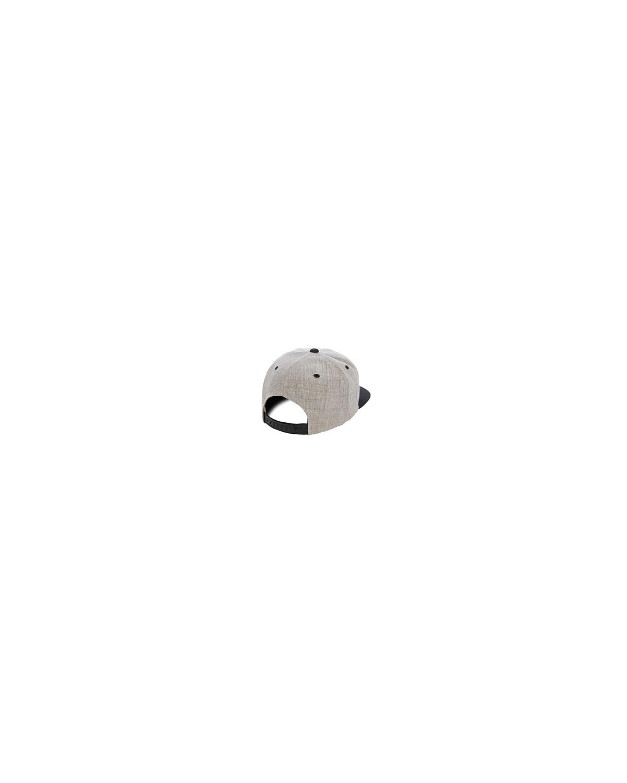 6089MT Yupoong HEATHER/BLACK